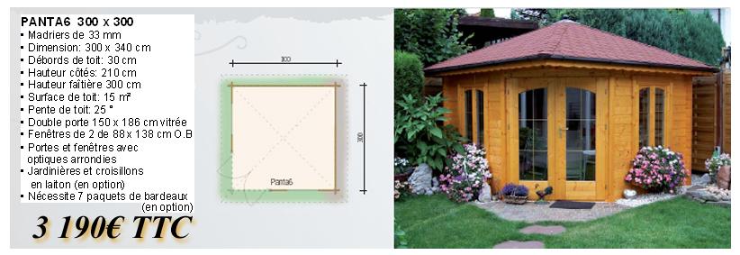 Bio bois concept chalet toit plat en bois chalet en kit for Chalet bois toit plat