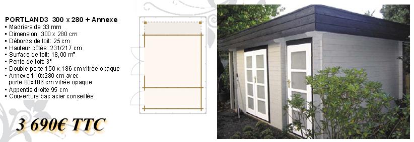 bio bois concept chalet toit plat en bois chalet en kit. Black Bedroom Furniture Sets. Home Design Ideas